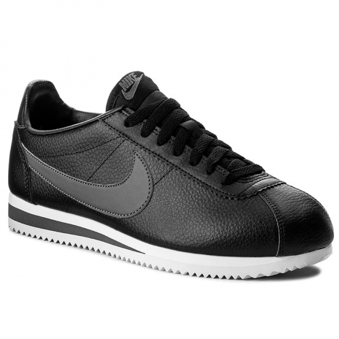 Buty NIKE Classic Cortez Leather 749571 011 Black/Dark Grey/Whit