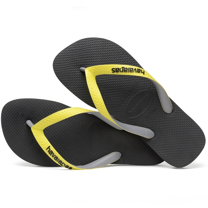 Japonki Havaianas Top Mix BLACK / NEO YELL H4115549-8108P