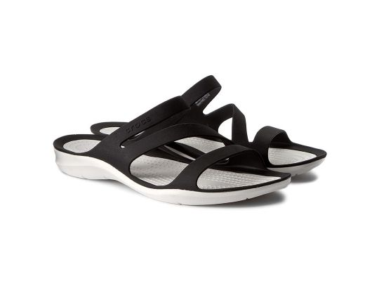 Klapki CROCS Swiftwater Sandal W 203998-066 Black/White