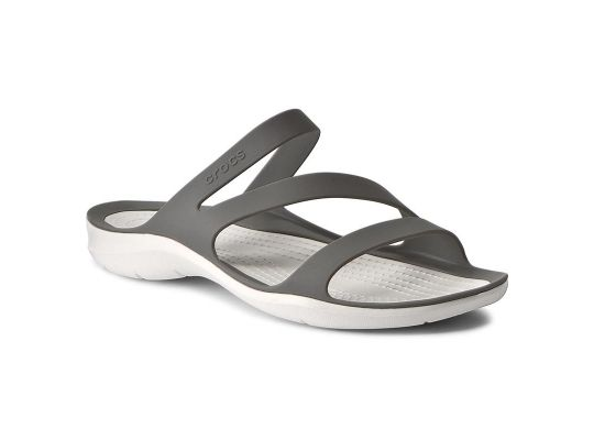 Klapki CROCS Swiftwater Sandal W 203998-06X SMOKE/WHITE