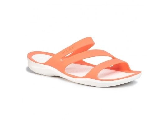 Klapki CROCS Swiftwater Sandal W 203998-82Q GRAPEFRUIT/WHITE